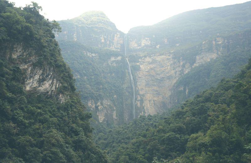 Wasserfall Gocta Bei Chachapoyas
