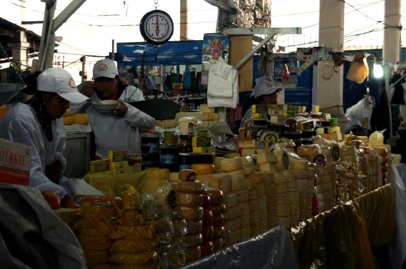 san pedro cusco markt käse