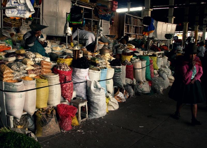 san pedro gewürze cusco markt