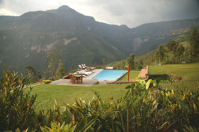 Gocta_Lodge_Garten_Pool_wasserfall_Nordperu_Norden_rundreisen