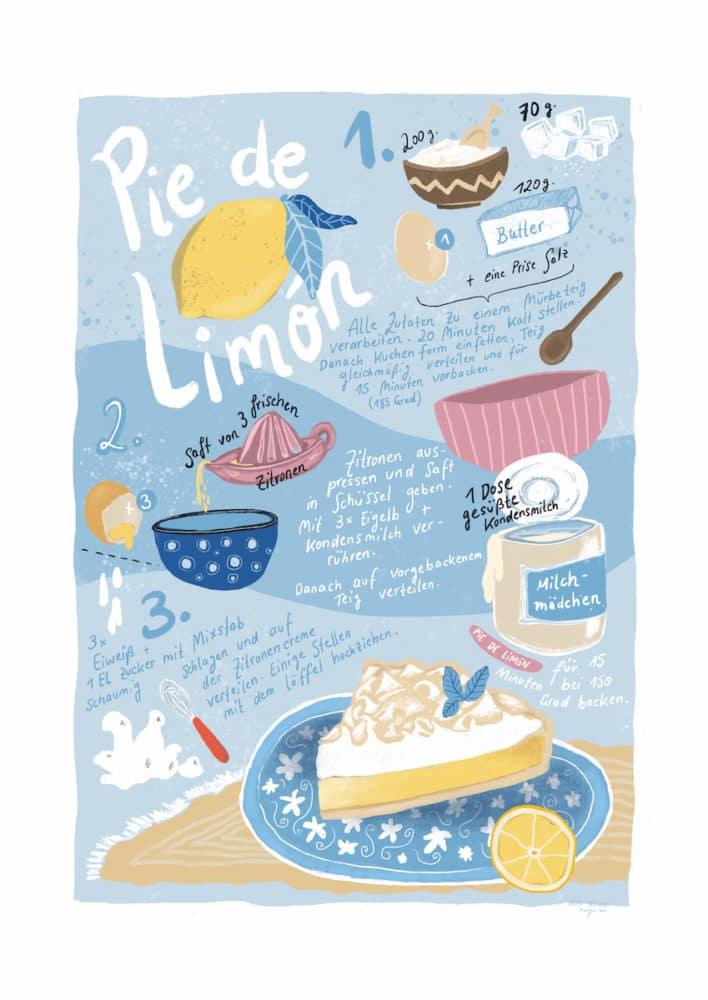 Rezept für Pie de Limón