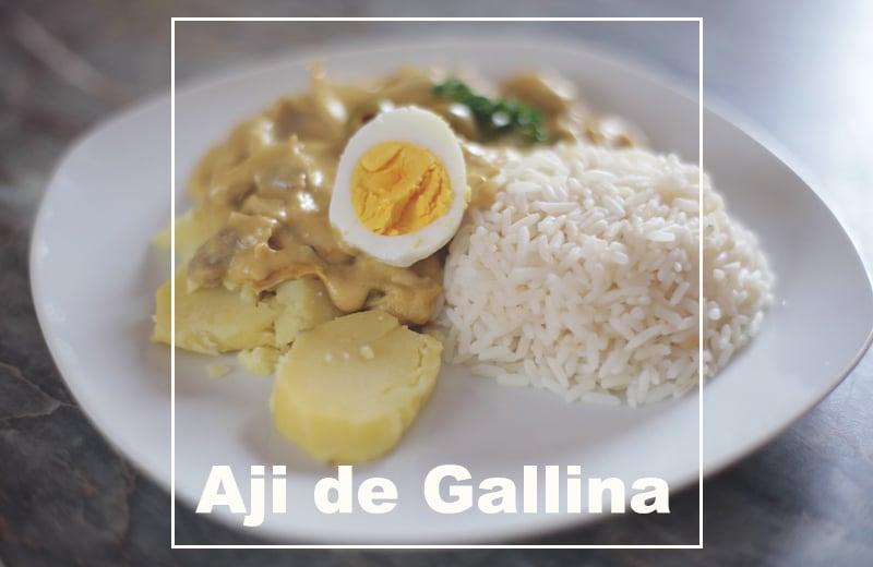 Ají de Gallina (Rezept) – Hühnergeschnetzeltes in cremiger Ají Amarillo Soße!