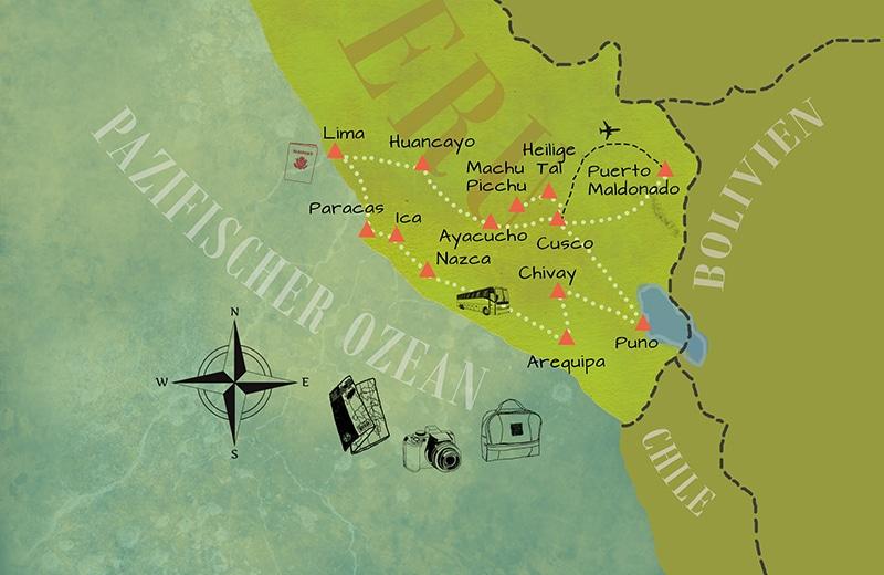 Peru Reiseroute