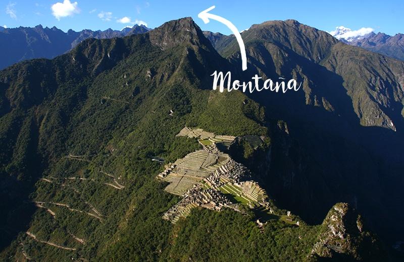 Blick auf Machu Picchu vom Huayna Picchu
