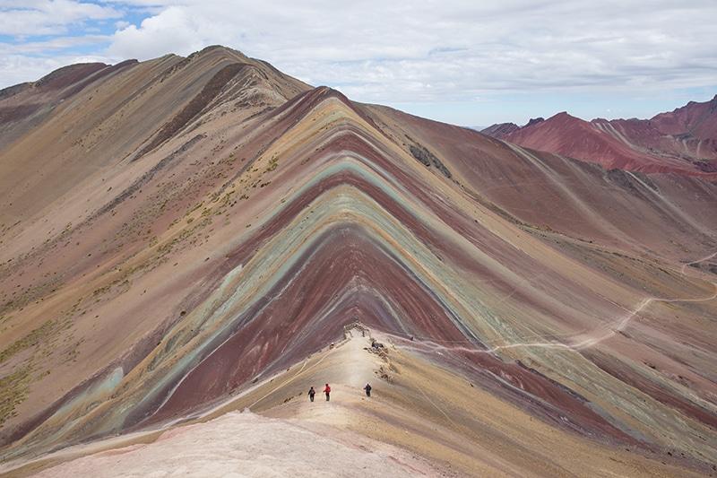 Die Regenbogen Berge in Peru