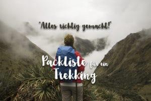 Peru Packliste für ein Trekking