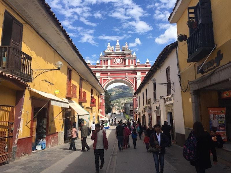 Im historischen Zentrum von Ayacucho