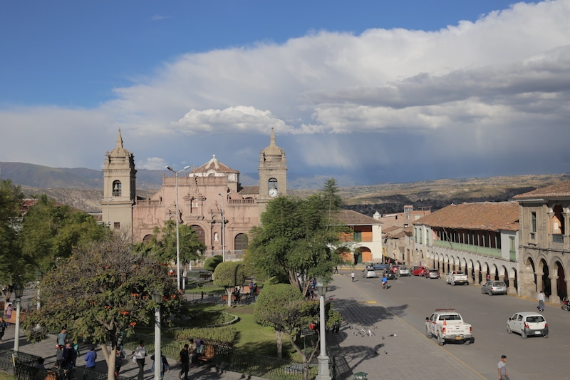 Blick über den Hauptplatz von Ayacucho