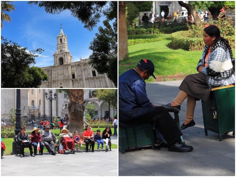 Der Hauptplatz von Arequipa