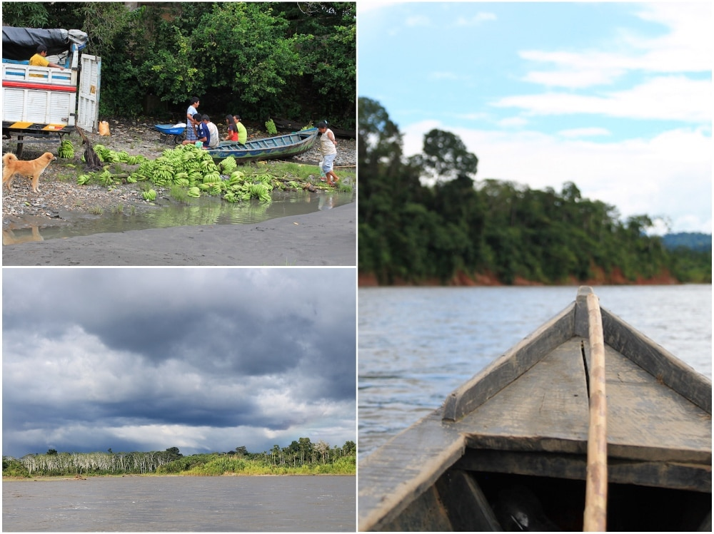 Im Holzboot durch den Dschungel