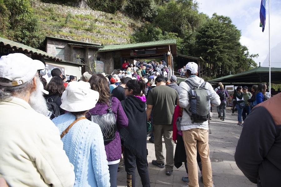 Am Eingang von Machu Picchu