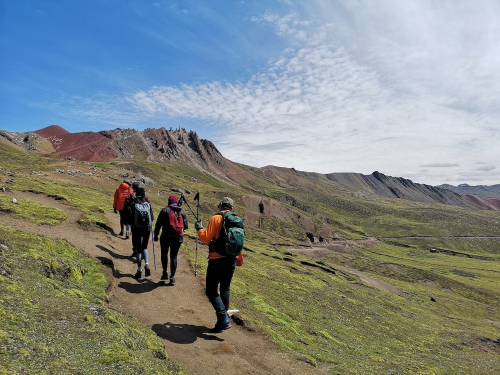 Wanderung in Richtung Rainbow Mountain